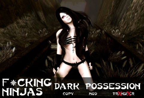 Dark Possession Pose Ad