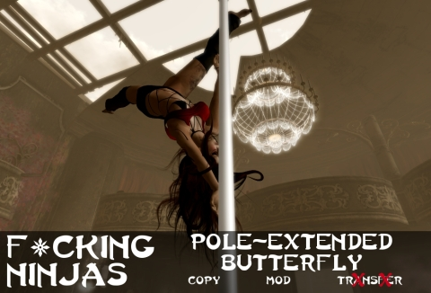 Pole-Extended Butterfly Pose Ad