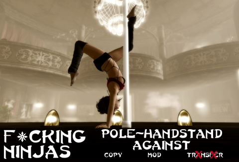 Pole-Handstand Against Pose Ad