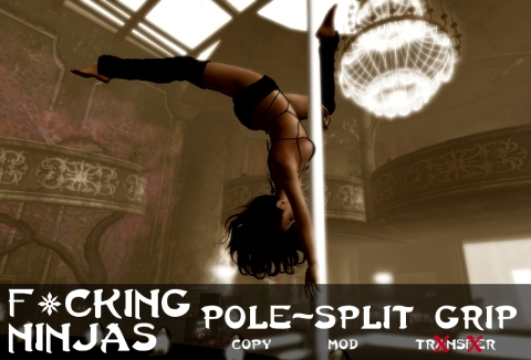 Pole-Split Grip Pose Ad