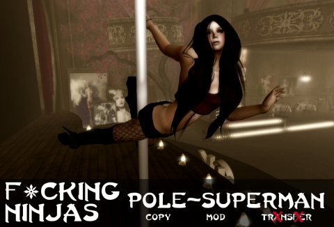 Pole-Superman Pose Ad